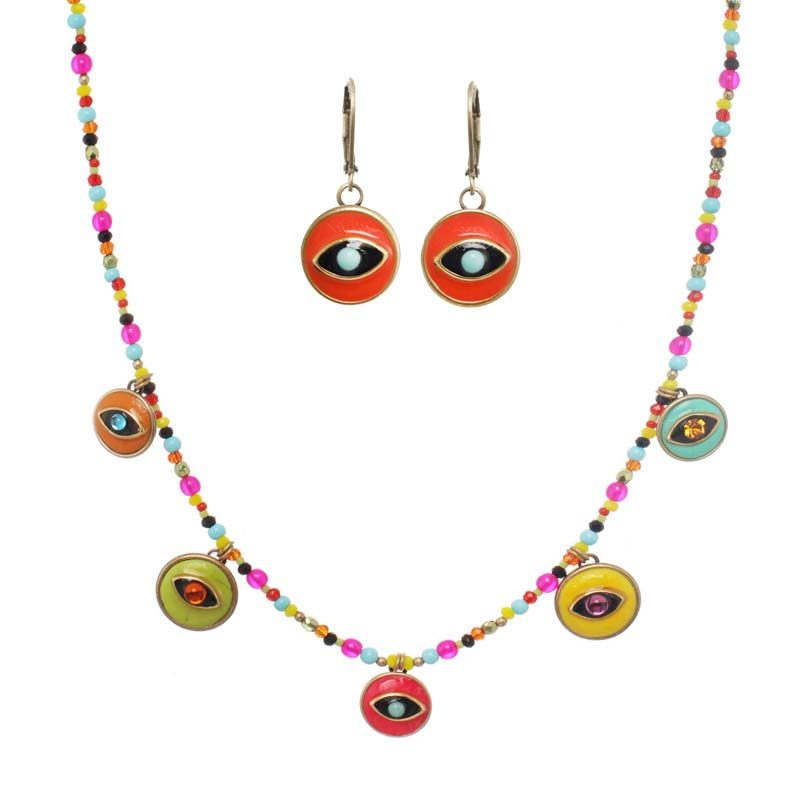 Multi Color Eyes Charm Set