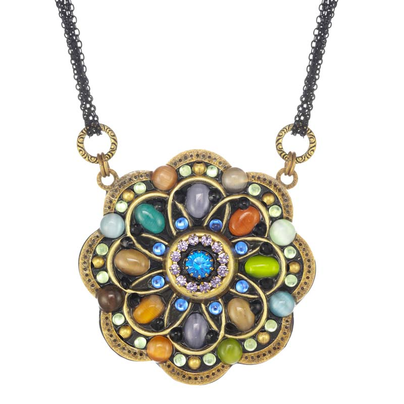 Spring Forest Large Flower Necklace