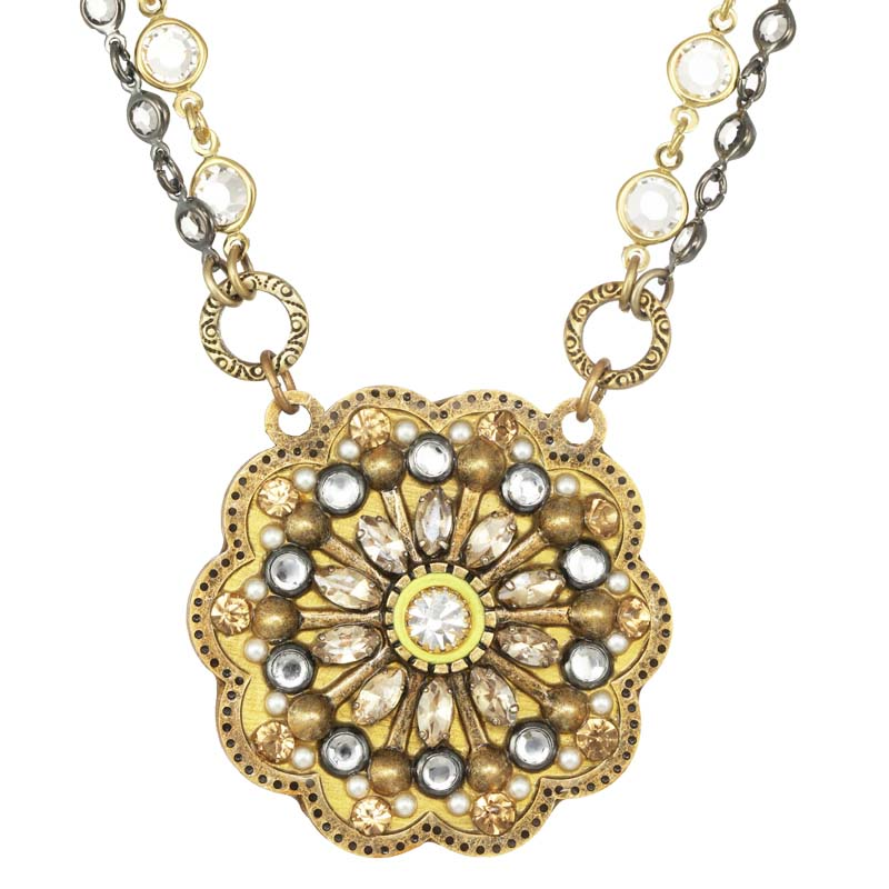 Bright Large Flower Necklace