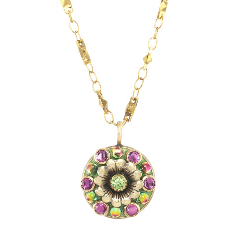 Juicy Lime Flower Necklace