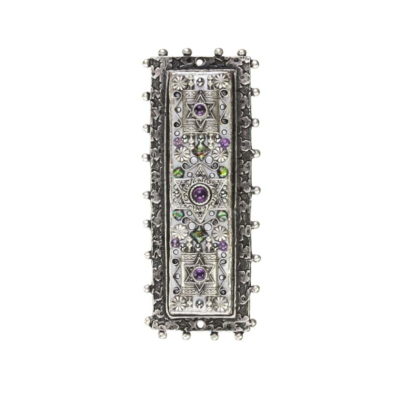 Mezuzah with Amethyst