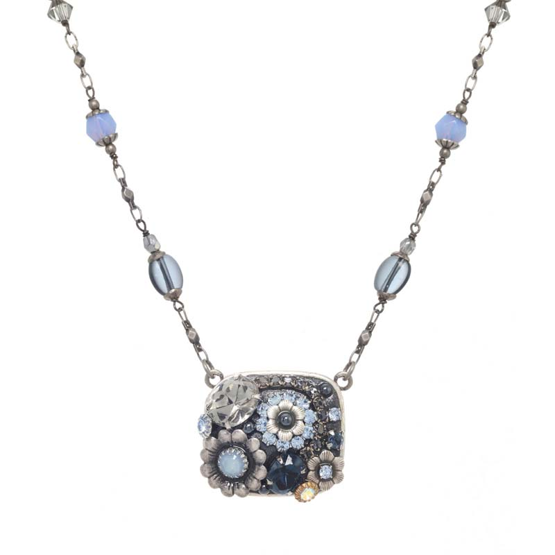 Blue Frost Square Necklace