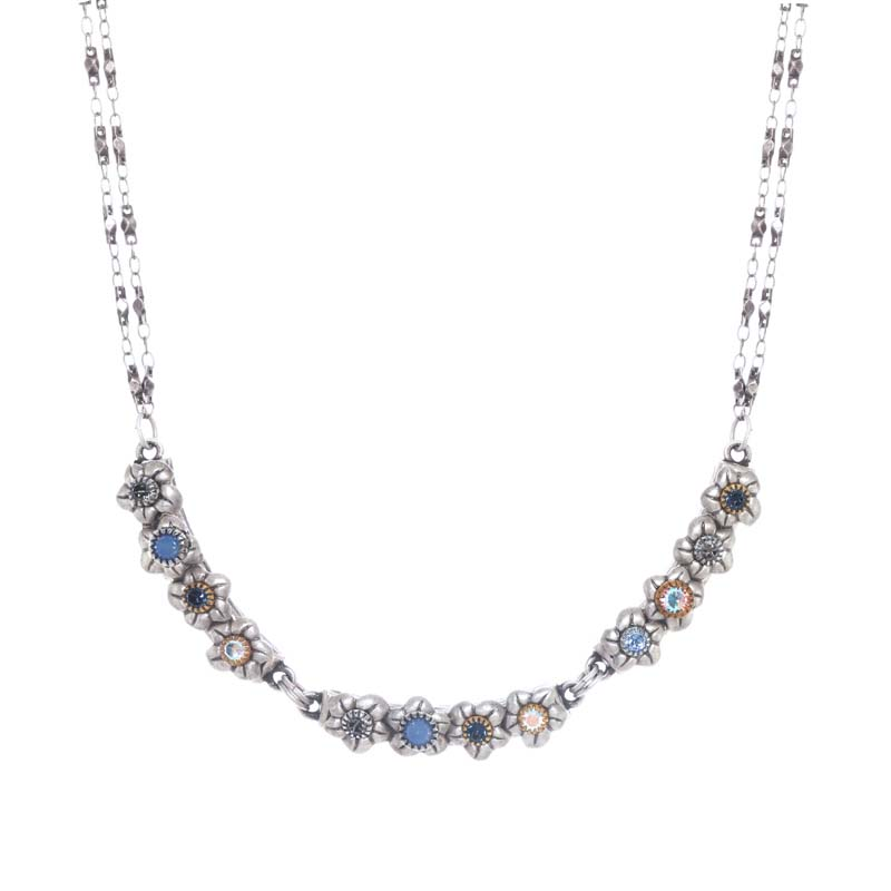 Blue Frost Collar Necklace