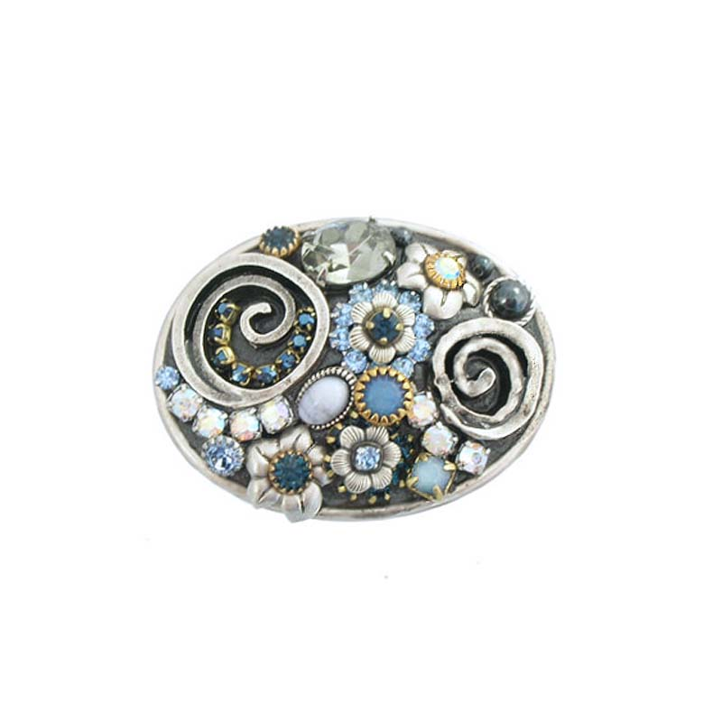 Blue Frost Oval Pin