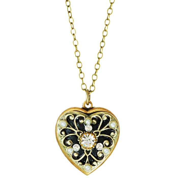 Art Deco Heart Necklace