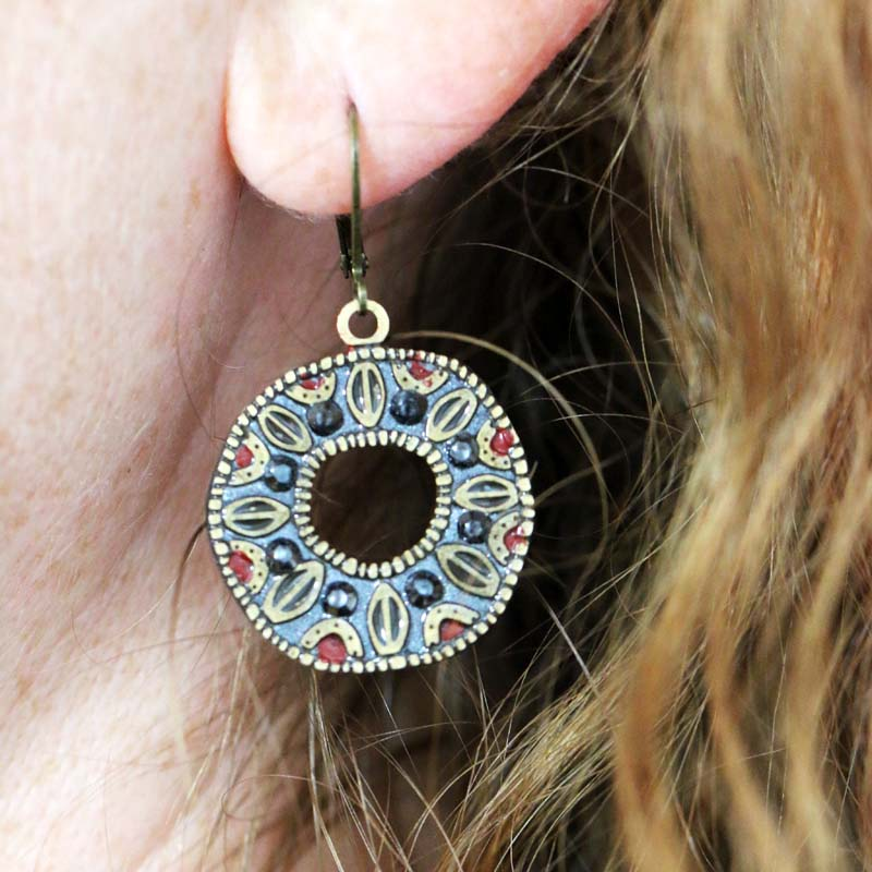 Canyon Open Circle Wire Earrings