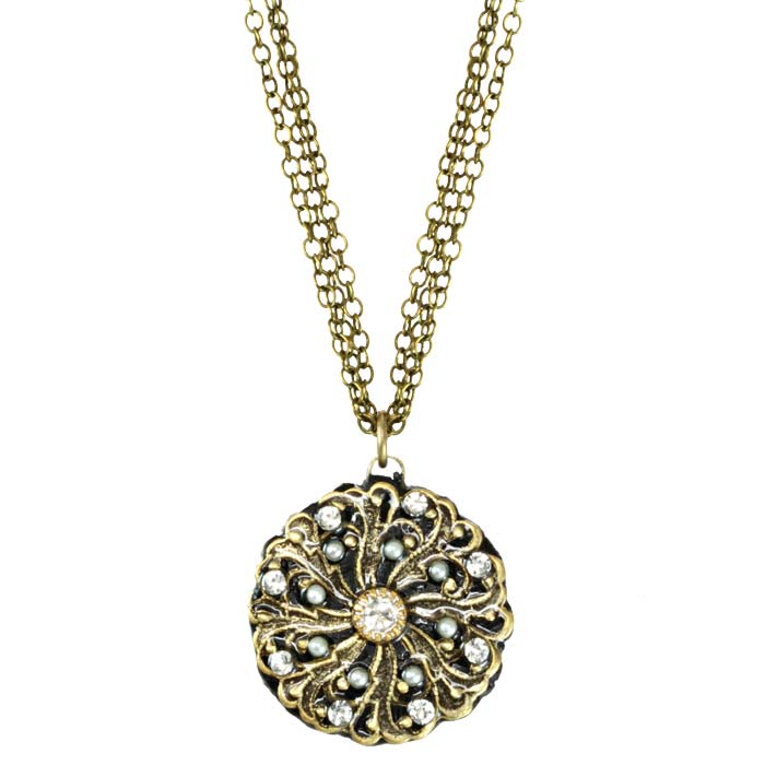 Gold Swirl Flower Necklace