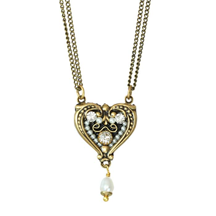 Deco Heart Drop Necklace