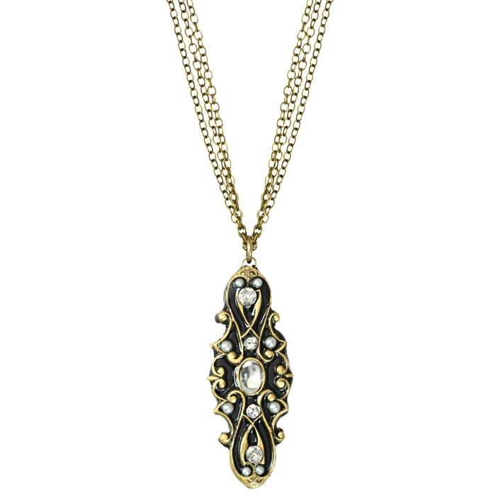 Deco Long Oval Necklace