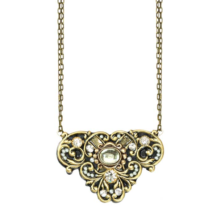 Deco Swirling Flower Necklace