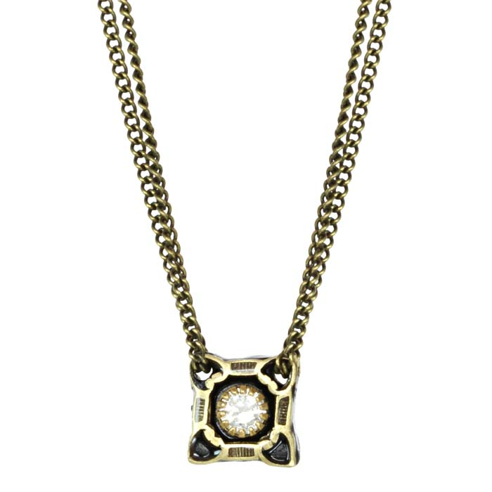 Deco Square Chain Necklace