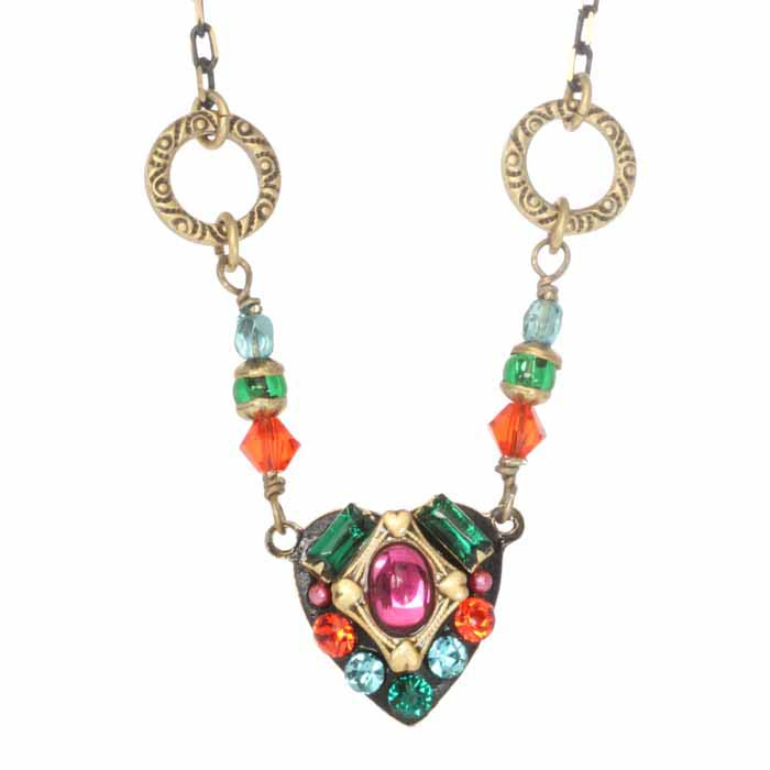 Prismatic Heart of Crystals Necklace