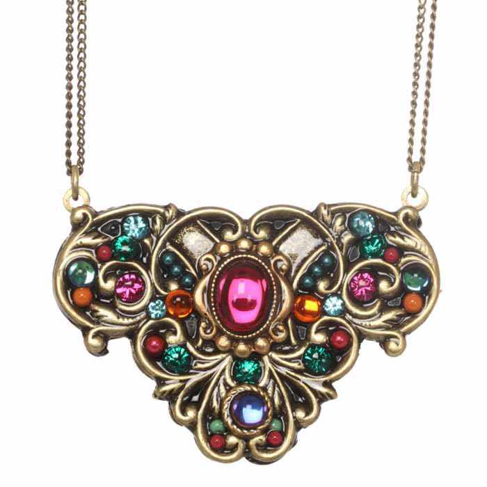 Prismatic Butterfly Flower Necklace