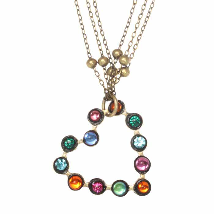 Prismatic Open Heart Necklace