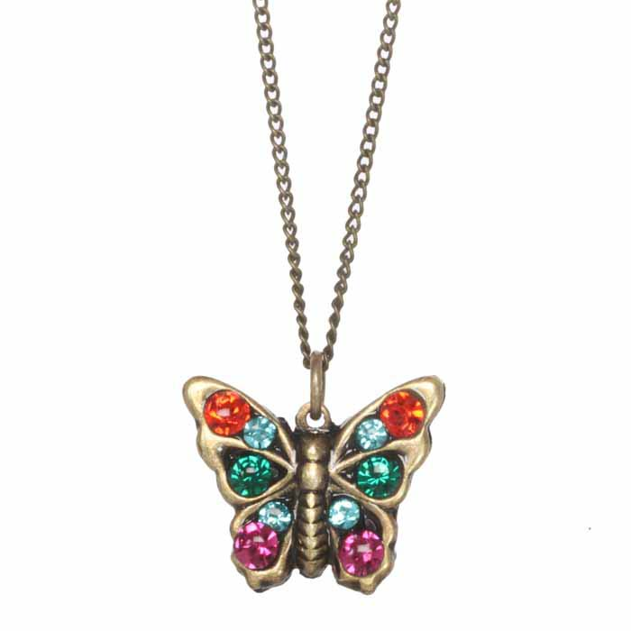 Prismatic Small Butterfly Necklace