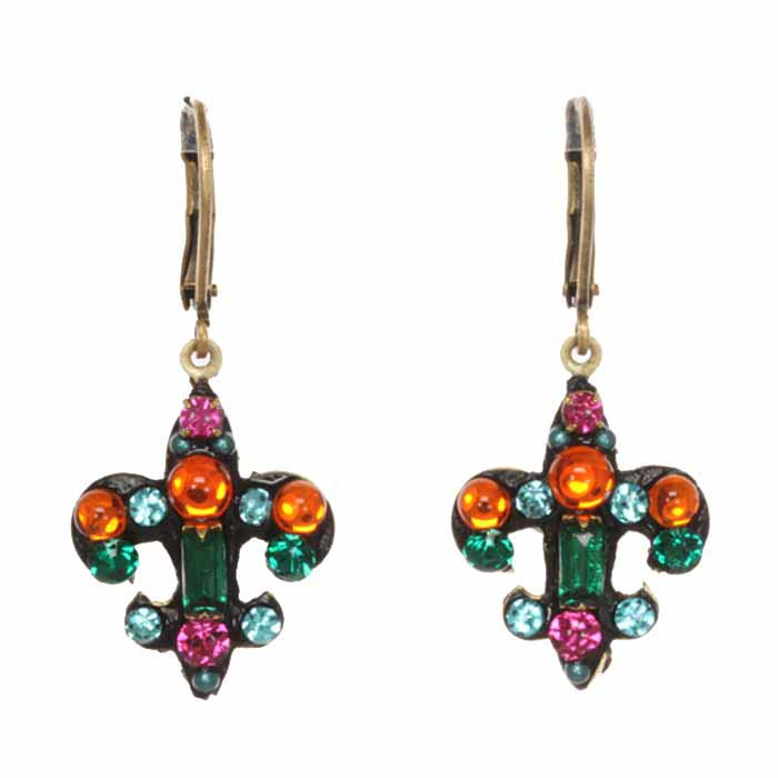 The fleur de lis Prismatic Earrings