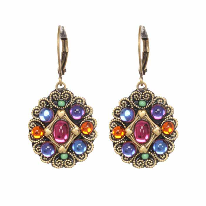 Graceful Prismatic Flower Earrings