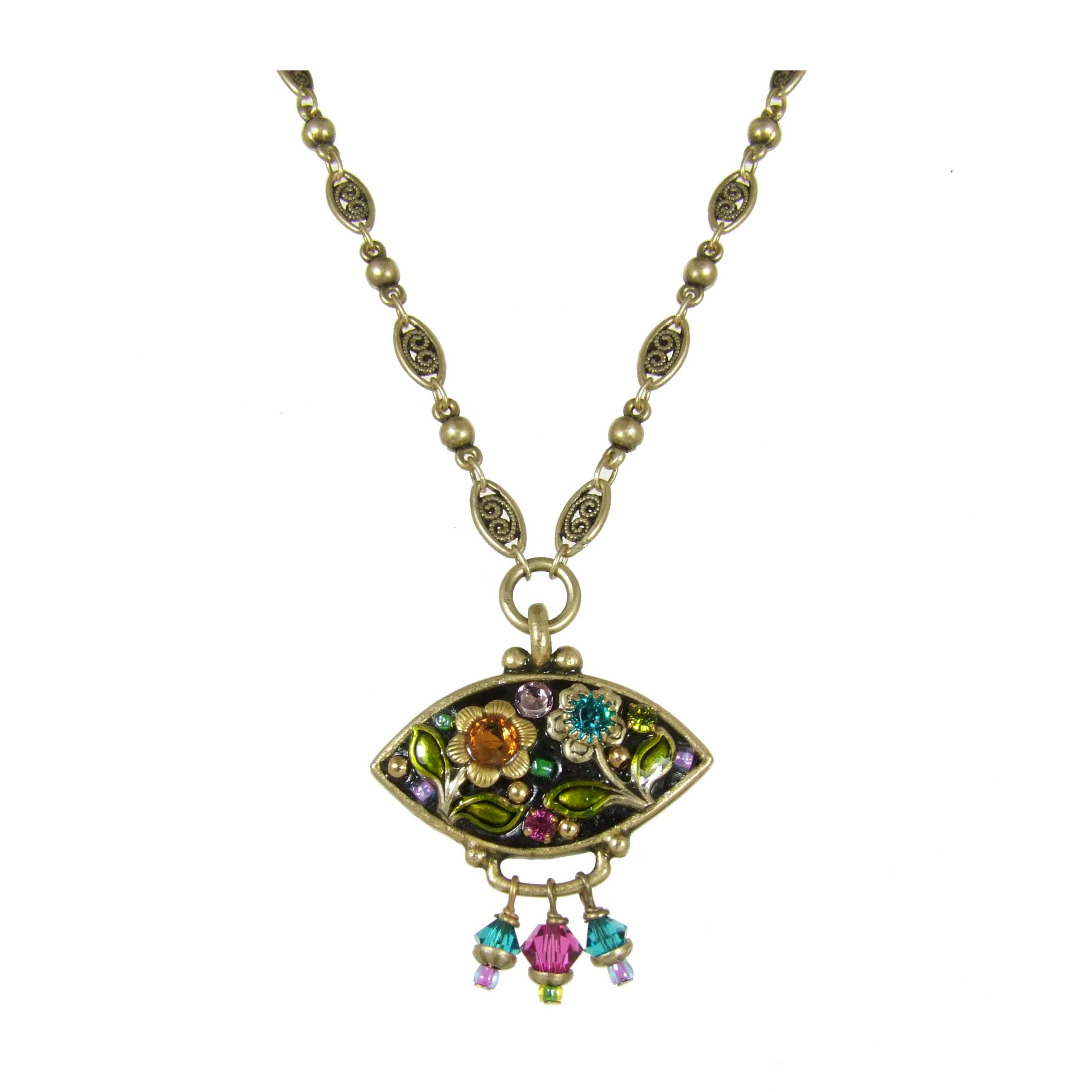 Midnight Garden Eye Shape Necklace