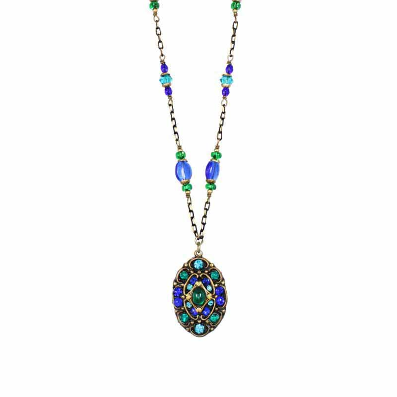 Peacock Long Oval Necklace