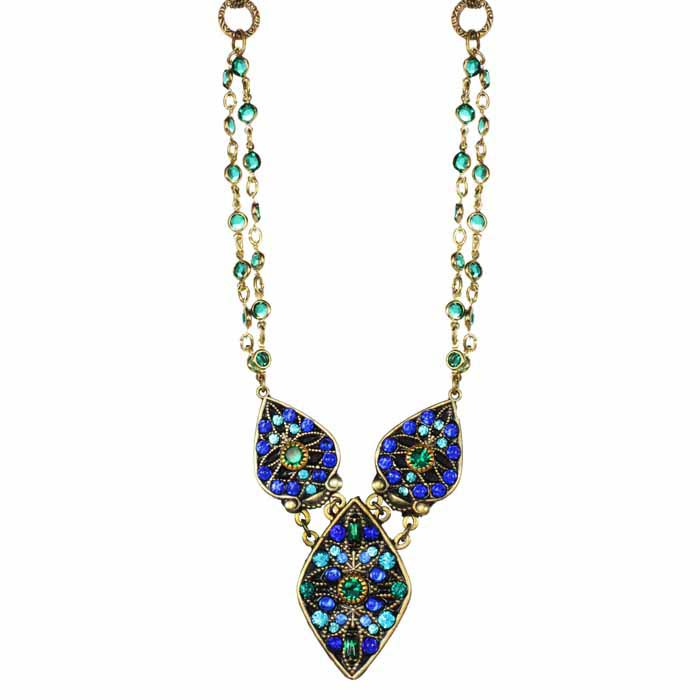 Peacock Geometric Necklace