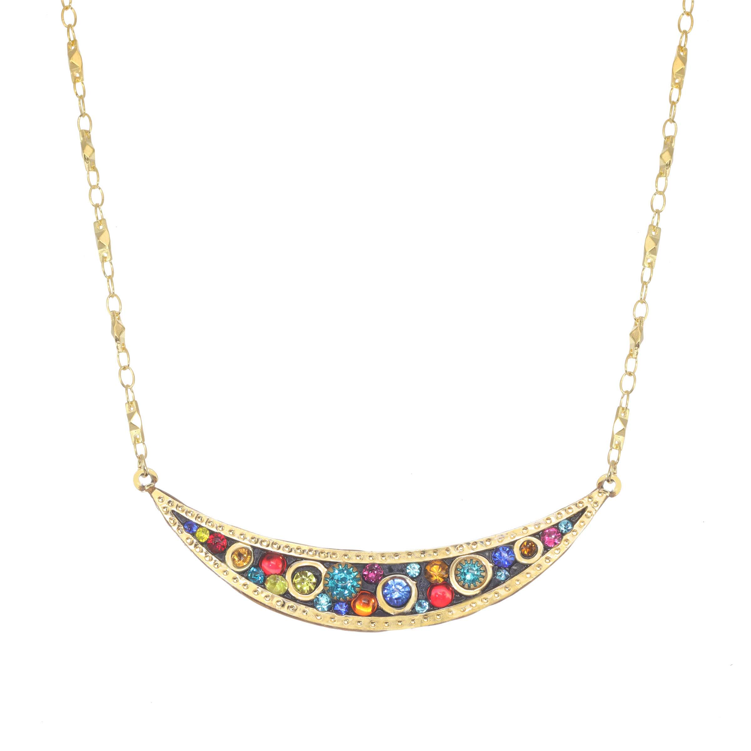 Cosmic Crescent Necklace