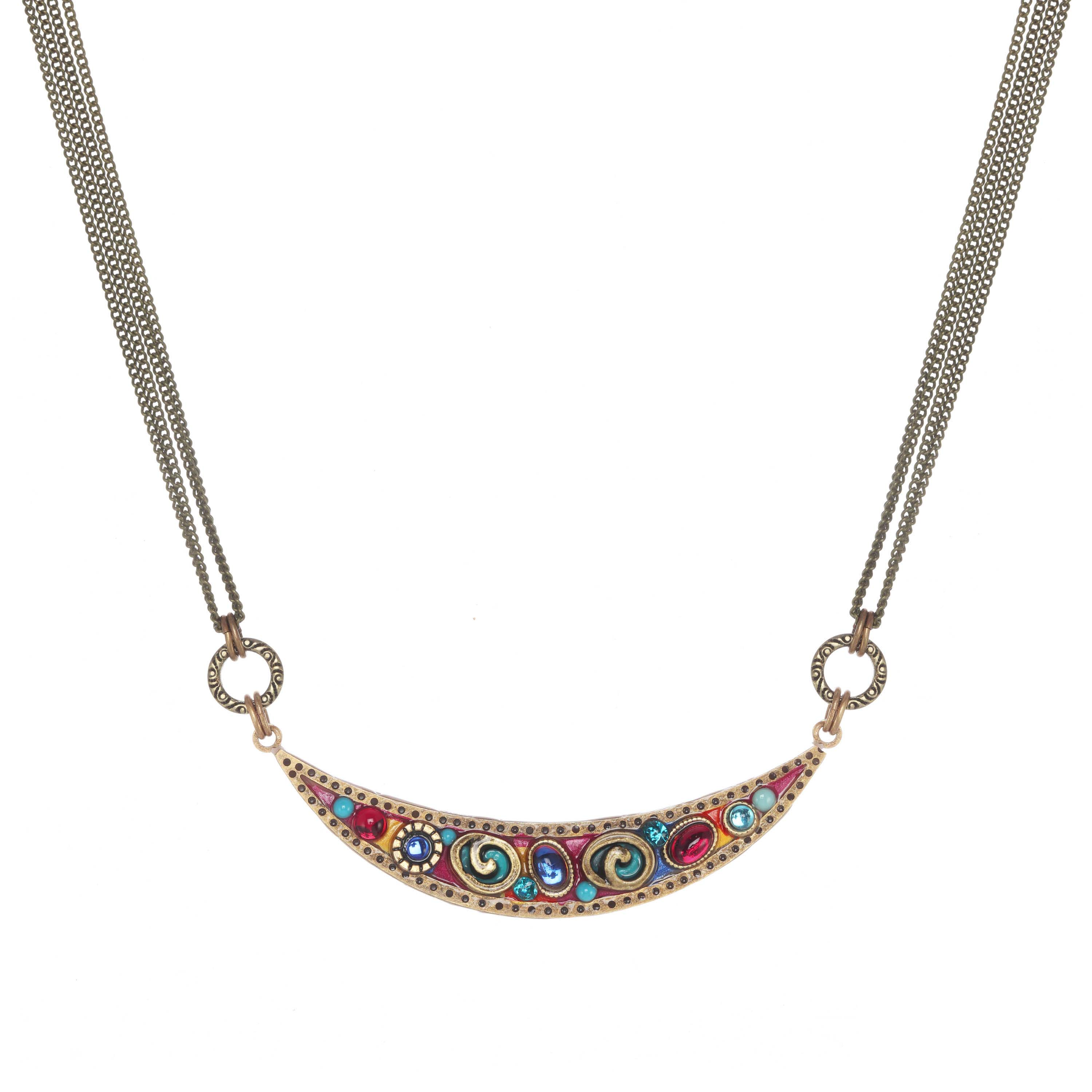 Confetti Thin Crescent Necklace