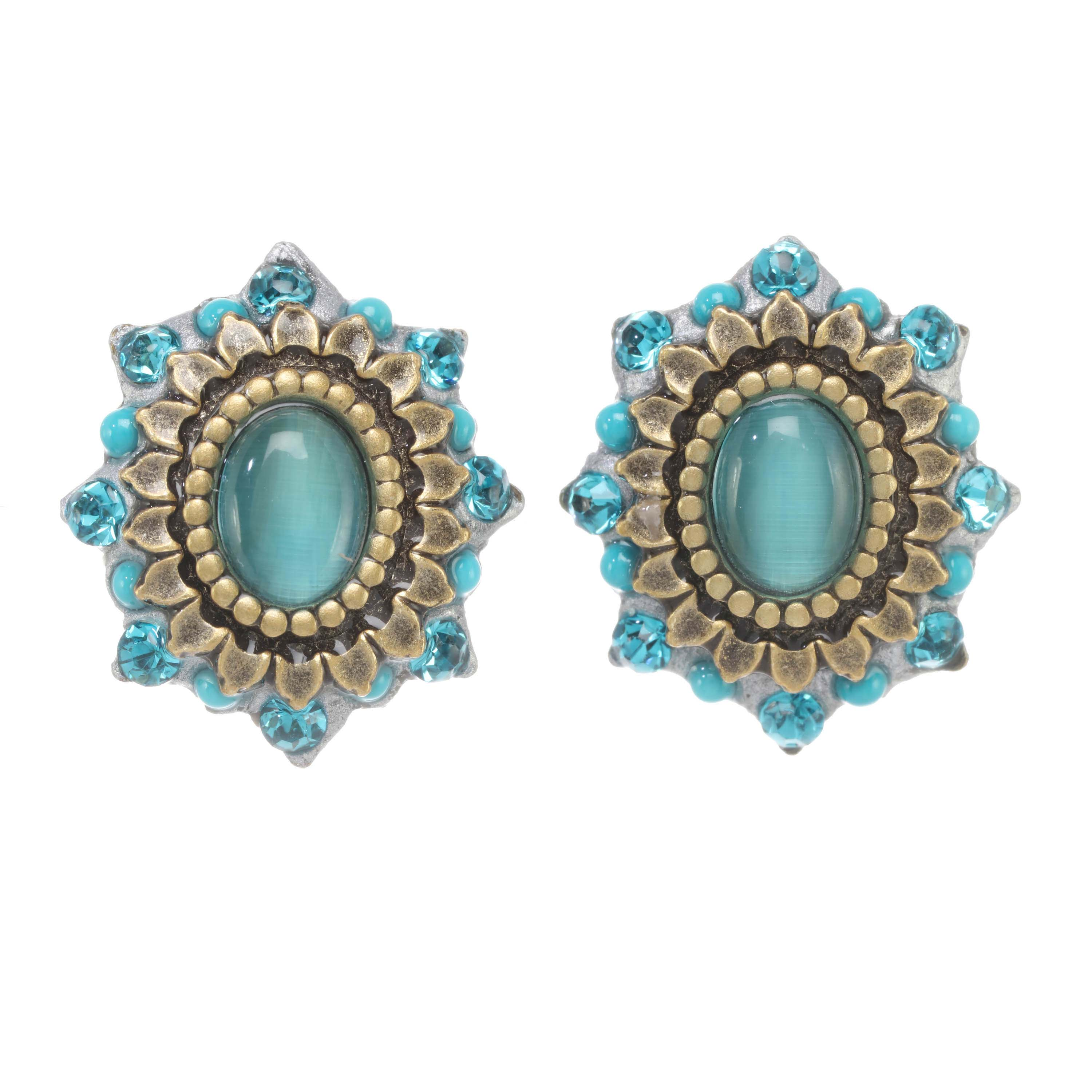 Turquoise Bloom Earrings