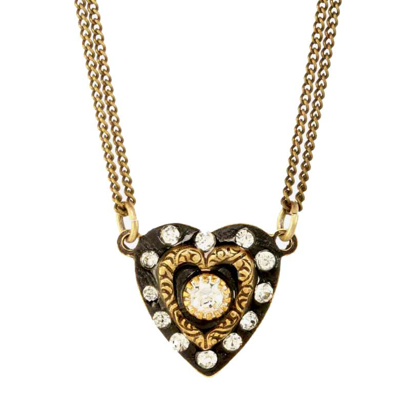 Deco Double Heart Necklace