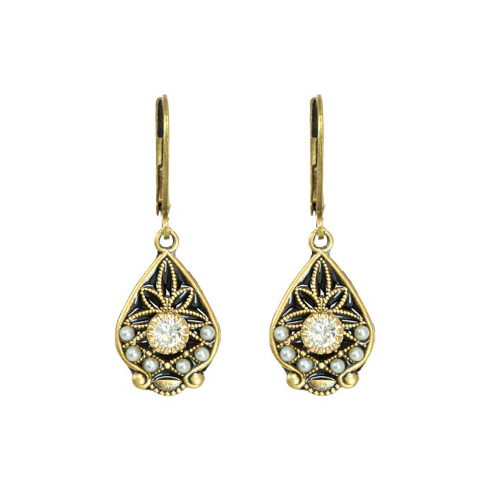 Art Deco Teardrop Earrings