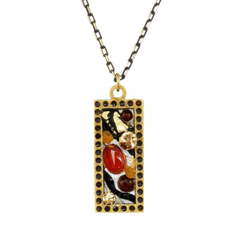 Abstract Small Rectangle Necklace