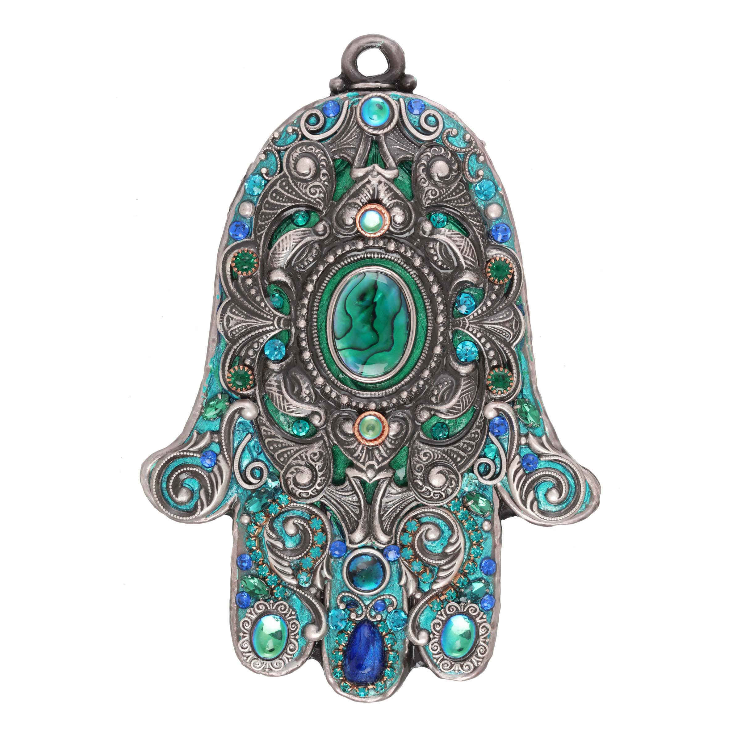 Sea Green Wall Hamsa