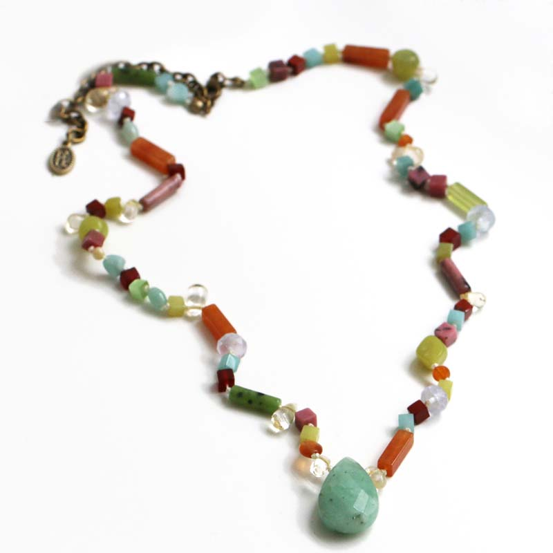 Jade Stone Beaded Necklace