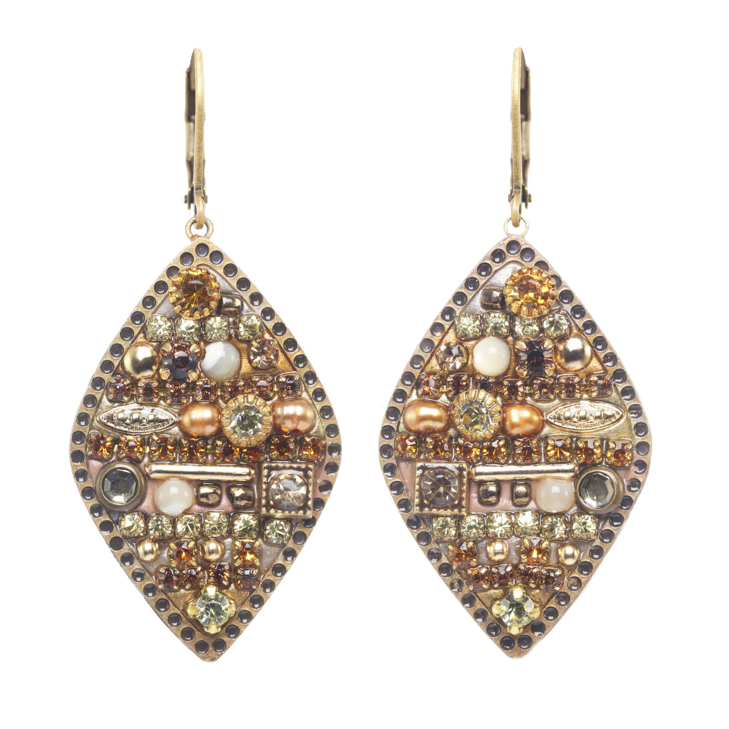Citrine Large Diamond Earrings (SPECIAL)