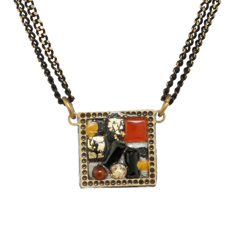 Abstract Petite Square Necklace