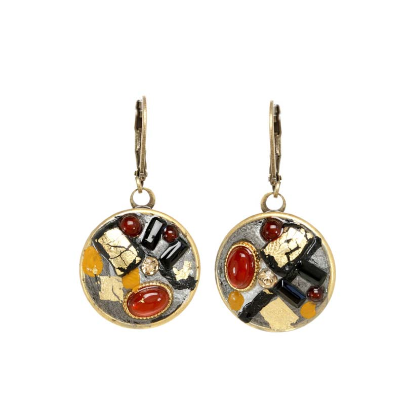 Abstract Circle Drop Earrings