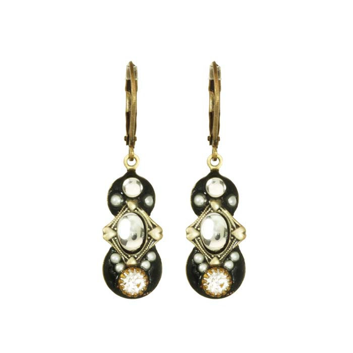 Deco Dark Dangling Earrings