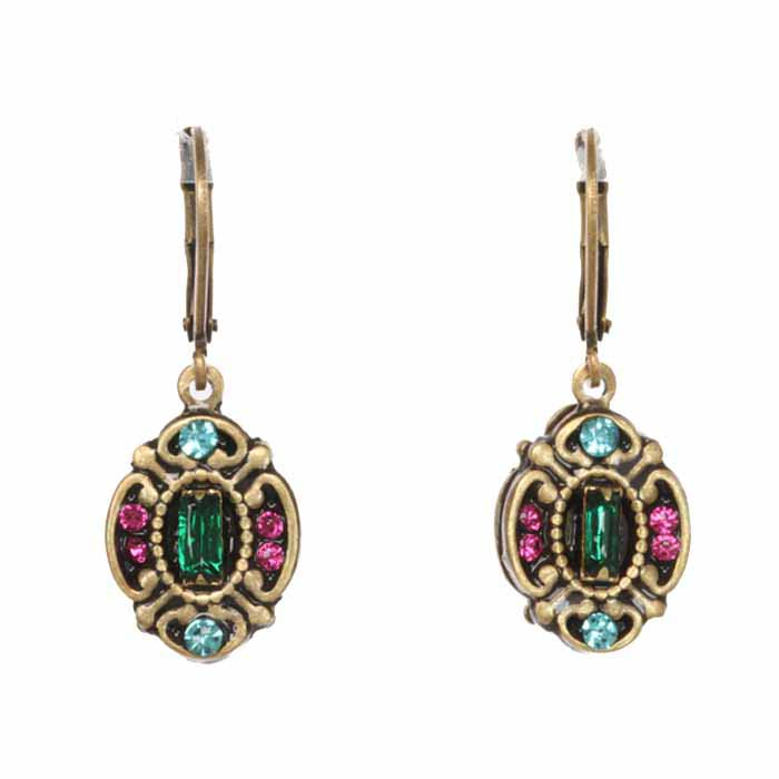 Prismatic Ornate Oval Earrings
