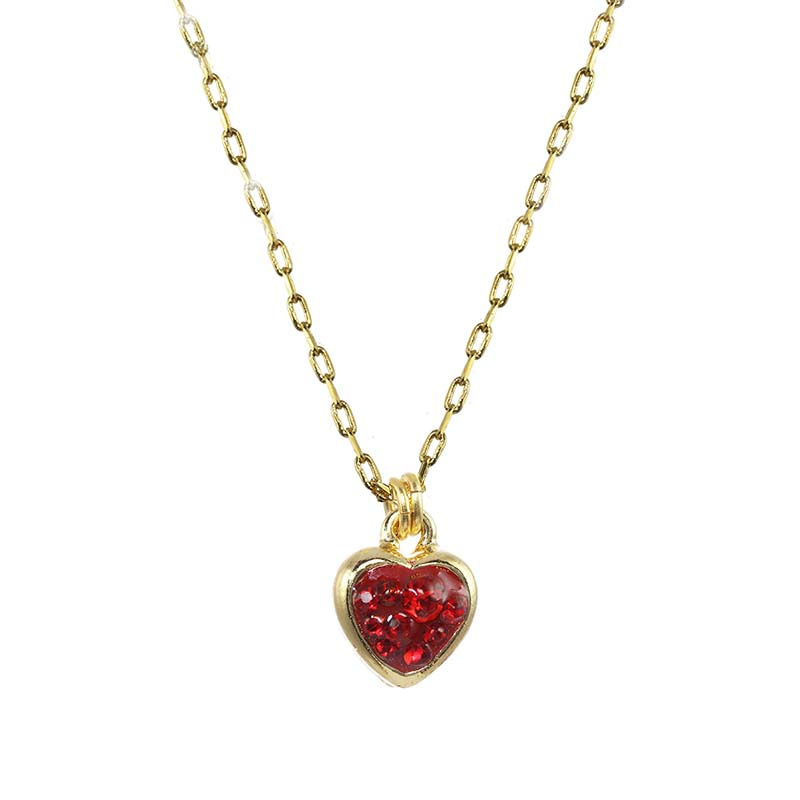 Mini Red Heart Necklace