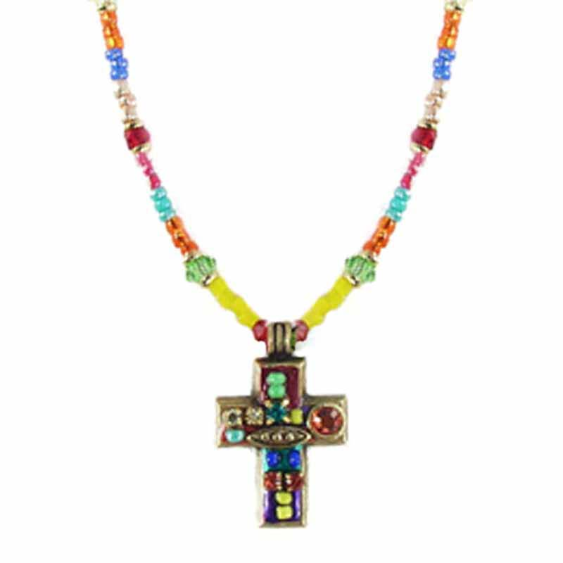 Multi-Bright Cross Necklace