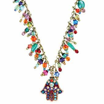 MultiBright Hamsa Charm Necklace