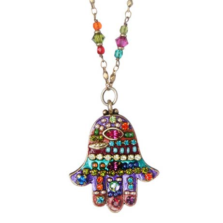 MultiBright Medium Hamsa Necklace