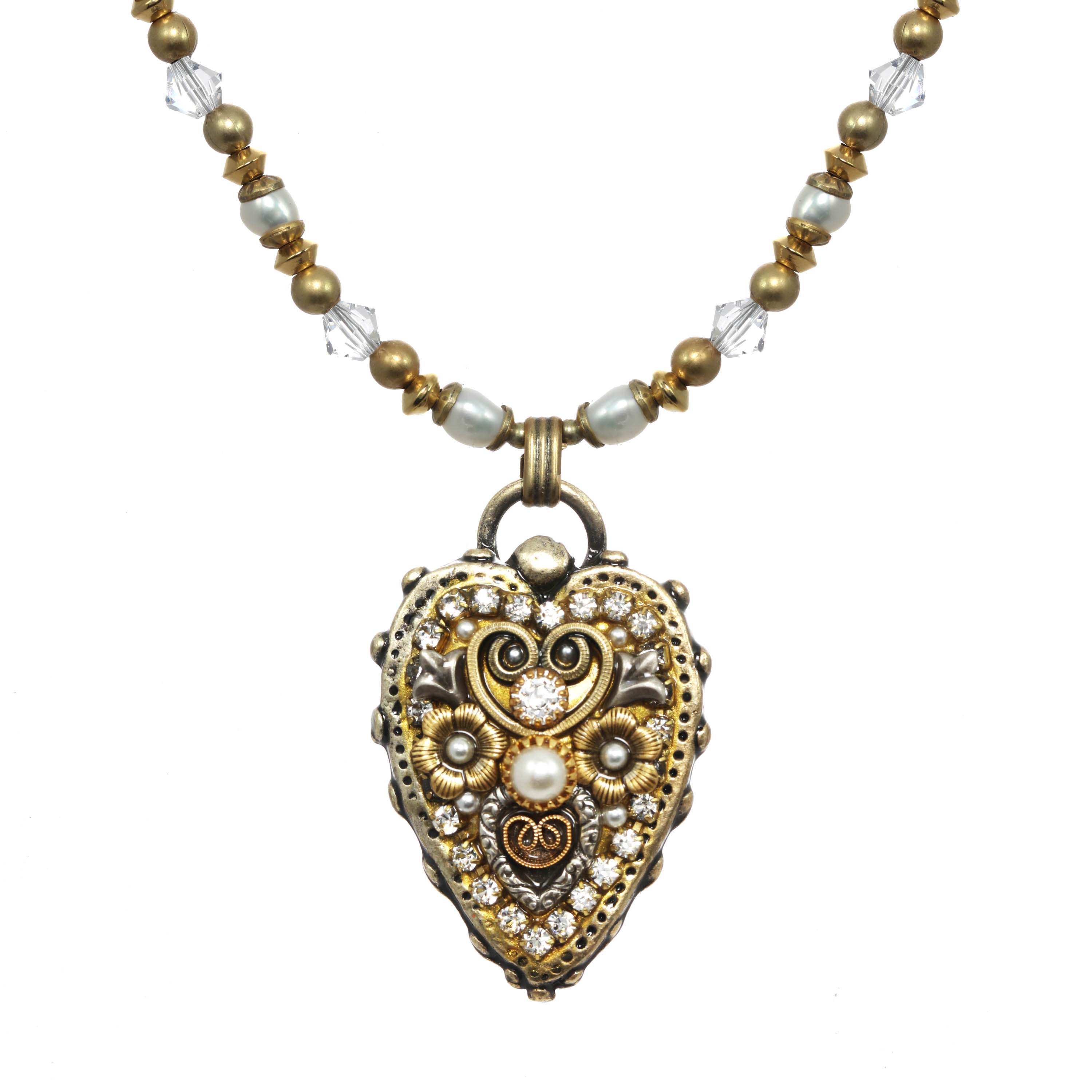 Classic Crystal Heart Necklace