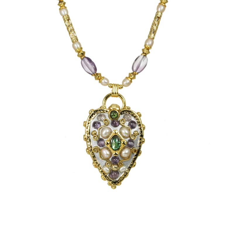 Purple Royal Heart Necklace