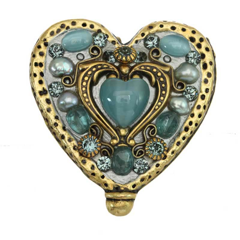 Sky Blue Heart Pin