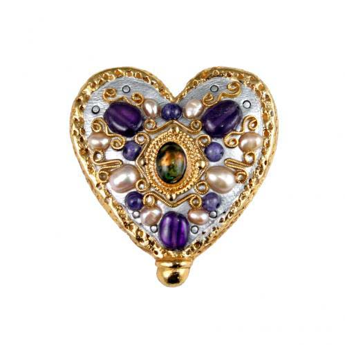 Purple Royal Heart Pin