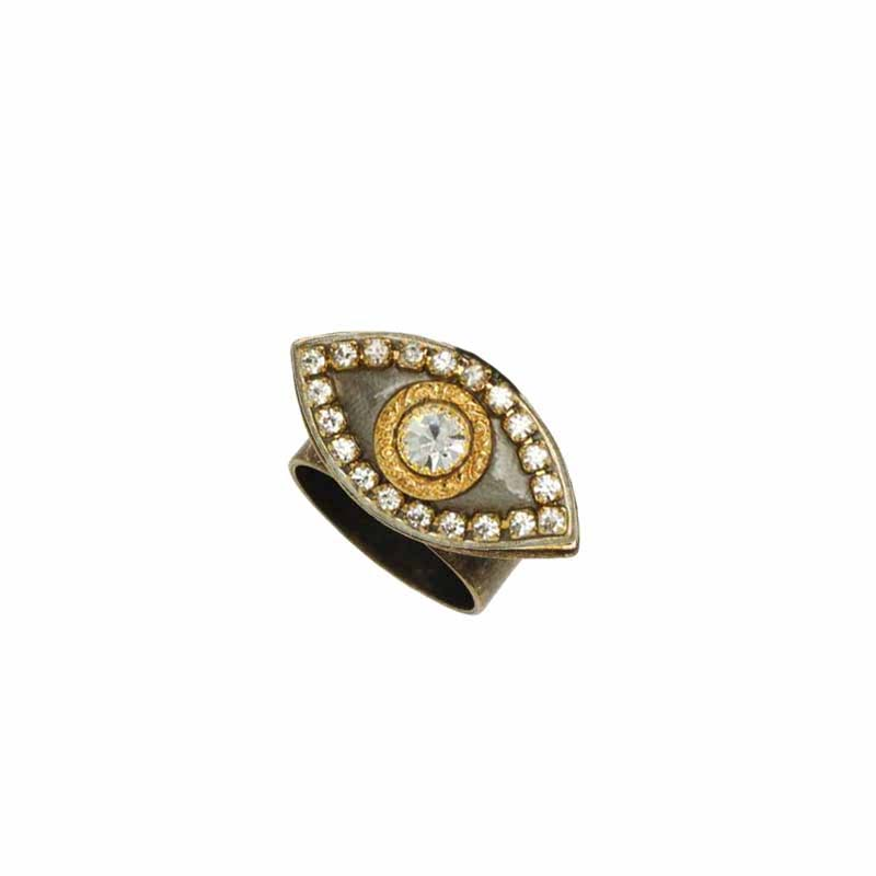 Silver and Gold Eye Ring