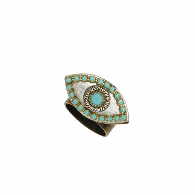 Silver and Turquoise Evil Eye Ring