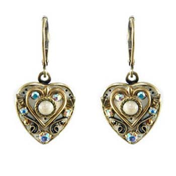 Regal Silver Heart Earrings