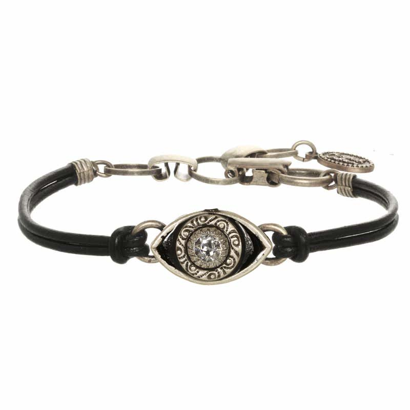 Mini Black and Silver Evil Eye Bracelet