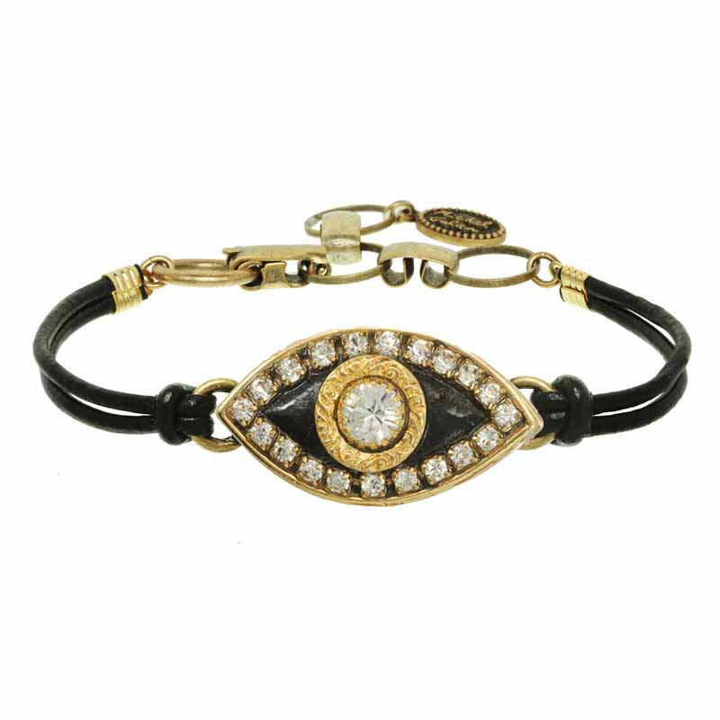 Black and Gold Evil Eye Bracelet